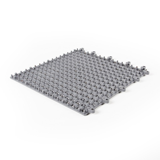 Rubber United Interlocking Tiles Open Grey 2